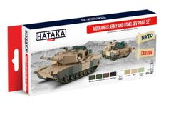 Modern US Army & USMC AFV Mid 1980s-Present Paint Set (8 Colors) 17ml Bottles - Hataka AS67
