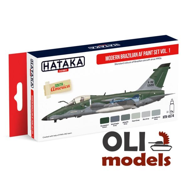 Modern Brazilian Air Force Since Vol.1 from 1990s Paint Set 6x17ml - HATAKA AS74