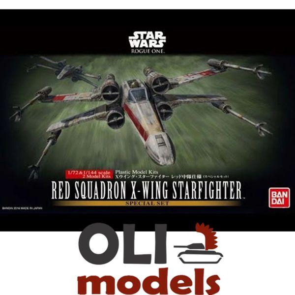 1/72 & 1/144 Star Wars Rogue One: Red Squadron X-Wing Starfighter - 2 Kits Set - Bandai 210522