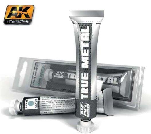 True Metal Wax Silver 20ml Tube - AK Interactive 458
