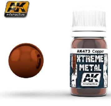 Xtreme Metal Copper Metallic Paint 30ml Bottle - AK Interactive 473