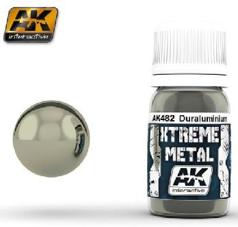 Xtreme Metal Duraluminum Metallic Paint 30ml Bottle - AK Interactive 482
