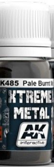 Xtreme Metal Pale Burnt Metal Metallic Paint 30ml Bottle - AK Interactive 485