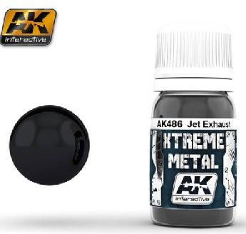 Xtreme Metal Jet Exhaust Metallic Paint 30ml Bottle - AK Interactive 486