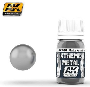 Xtreme Metal Matte Aluminum Metallic Paint 30ml Bottle - AK Interactive 488