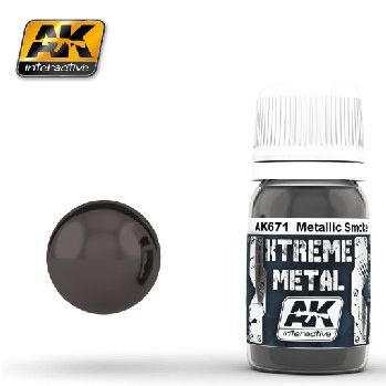 Xtreme Metal Smoke Metallic Paint 30ml Bottle - AK Interactive 671