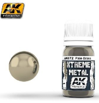 Xtreme Metal Pale Brass Metallic Paint 30ml Bottle - AK Interactive 672