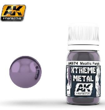 Xtreme Metal Purple Metallic Paint 30ml Bottle - AK Interactive 673