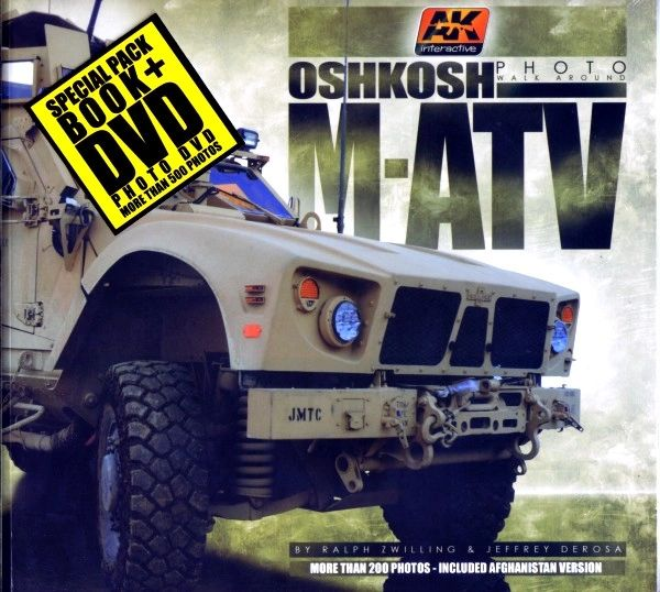 Oshkosh M-ATV Photo Walk Around Book w/DVD - AK Interactive 400