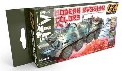 Modern Russian Vol.2 Acrylic Paint Set (6 Colors) 17ml Bottles - AK Interactive4140