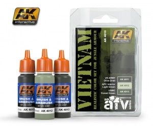 Vietnam Colors Acrylic Paint Set (3 Colors) 17ml Bottles - AK Interactive 4010