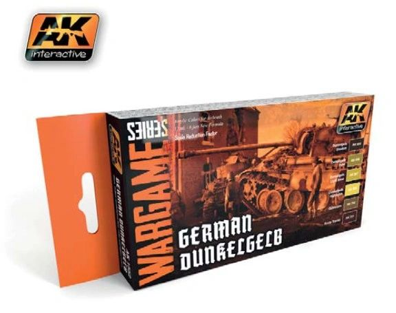 Wargame Series: German Dunkelgelb Acrylic Paint Set (6 Colors) 17ml Bottles - AK Interactive 1552