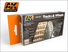 Track & Wheels Acrylic Paint Set (6 Colors) 17ml Bottles - AK Interactive 557