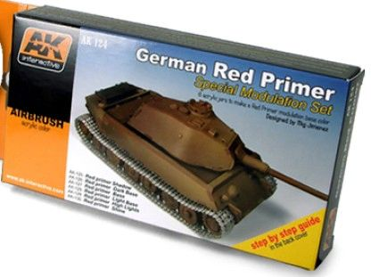 German Red Primer Special Modulation Acrylic Paint Set (6 Colors) 17ml Bottles - AK Interactive 124