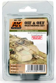 OIF & OEF Modern US Vehicles Acrylic/Enamel Paint Set (121, 122, 123) - AK Interactive 120