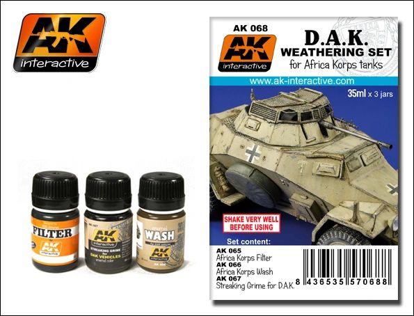 DAK Africa Korps Tanks Enamel Paint Set (65, 66, 67) - AK Interactive 68