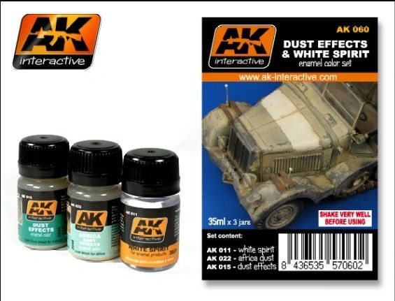 Dust Effects & White Spirit Enamel Paint Set (11, 15, 22) - AK Interactive 60