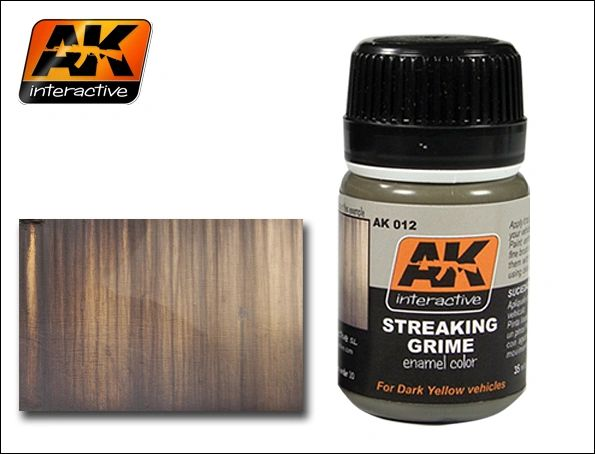 Streaking Grime Enamel Paint 35ml Bottle - AK Interactive 12