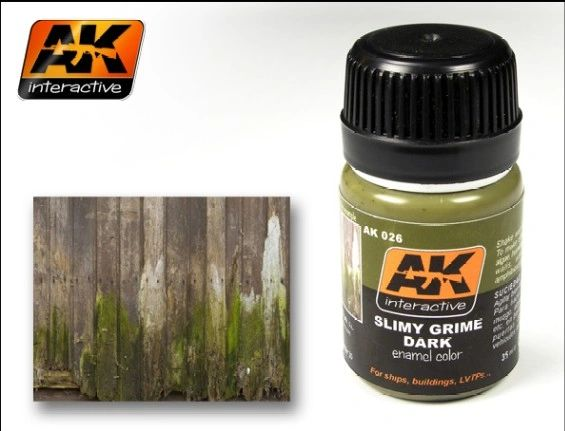 Slimy Grime Dark Enamel Paint 35ml Bottle - AK Interactive 26