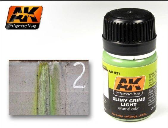Slimy Grime Light Enamel Paint 35ml Bottle - AK Interactive 27