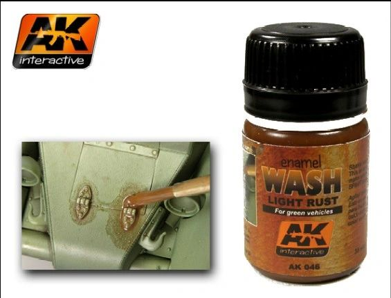 Light Rust Wash Enamel Paint 35ml Bottle - AK Interactive 46