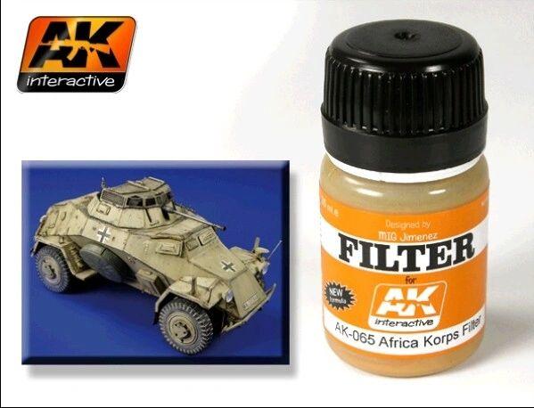 Afrika Korps Filter Enamel Paint 35ml Bottle - AK Interactive 65