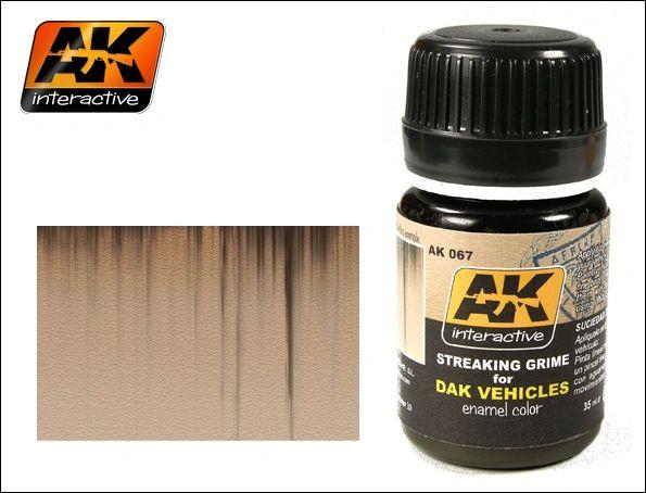 DAK Vehicle Streaking Grime Enamel Paint 35ml Bottle - AK Interactive 67