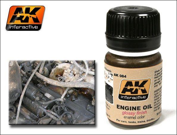 Engine Oil Glossy Enamel Paint 35ml Bottle - AK Interactive 84