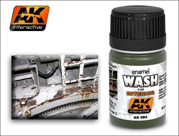 Interior Wash Enamel Paint 35ml Bottle - AK Interactive 93
