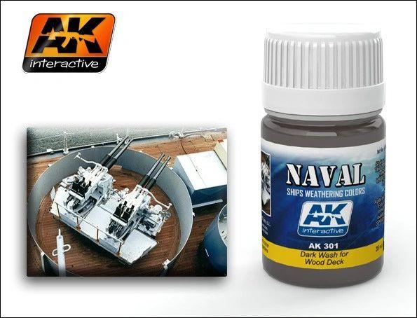 Wood Deck Dark Wash Enamel Paint 35ml Bottle - AK Interactive 301