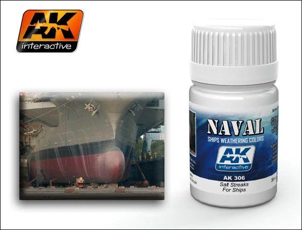 Ships Salt Streaks Enamel Paint 35ml Bottle - AK Interactive 306