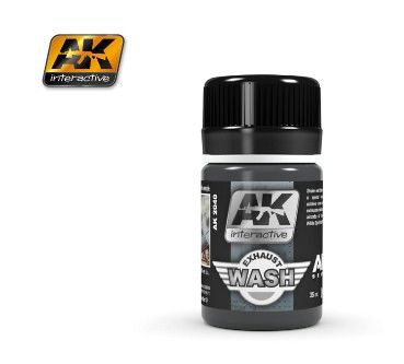 Air Series: Exhaust Enamel Wash 35ml Bottle - AK Interactive 2040
