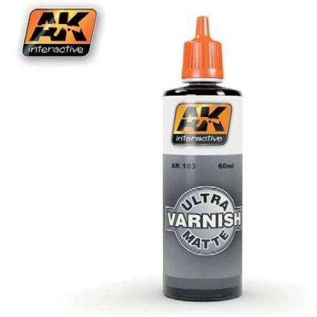Ultra Matte Acrylic Varnish 60ml Bottle - AK Interactive 183