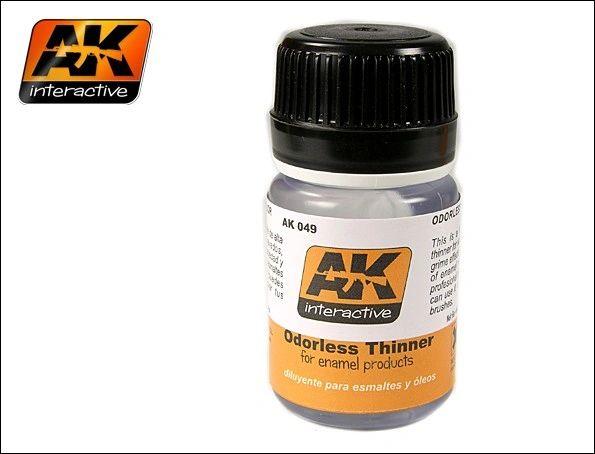 Odorless Enamel Thinner 35ml Bottle - AK Interactive 49