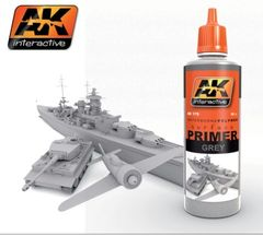 Grey Acrylic Primer 60ml Bottle - AK Interactive 175