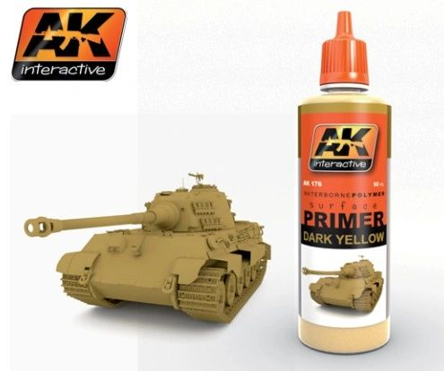 Dark Yellow Acrylic Primer 60ml Bottle - AK Interactive 176
