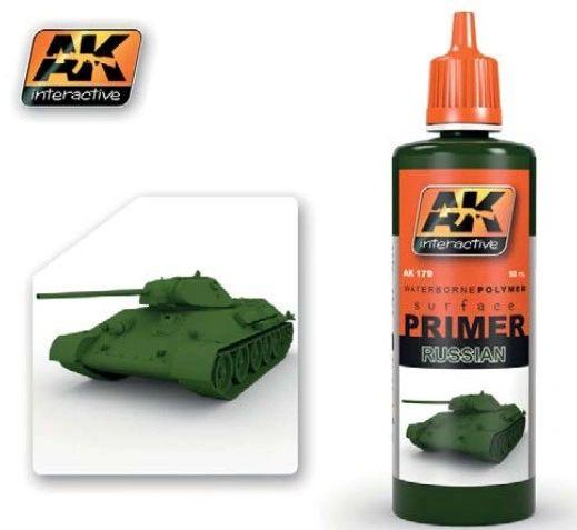 Russian Green Acrylic Primer 60ml Bottle - AK Interactive 179