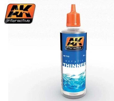 Acrylic Thinner 60ml Bottle - AK Interactive 712