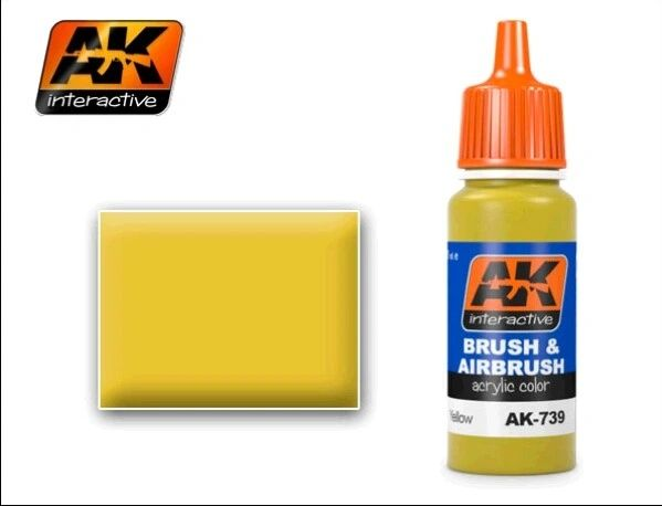 Yellow Acrylic Paint 17ml Bottle - AK Interactive 739