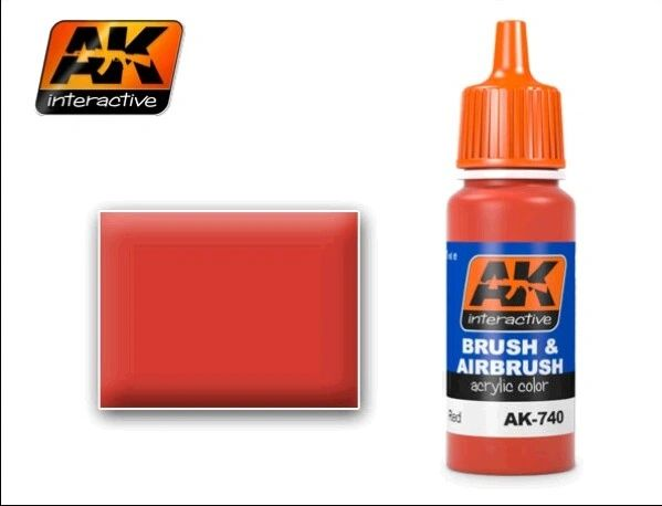 Red Acrylic Paint 17ml Bottle - AK Interactive 740