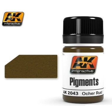 Ochre Rust Pigment 35ml Bottle - AK Interactive 2043