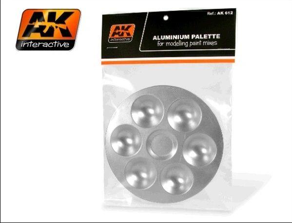 Aluminum Paint Palette 6 Wells - AK Interactive 612
