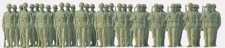 1/72 Unpainted German Reich Infantry Riflemen 1939-45 (36) - Preiser 72533