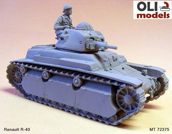 1/72 Renault R-40 with spur RESIN KIT - Modell Trans 72375