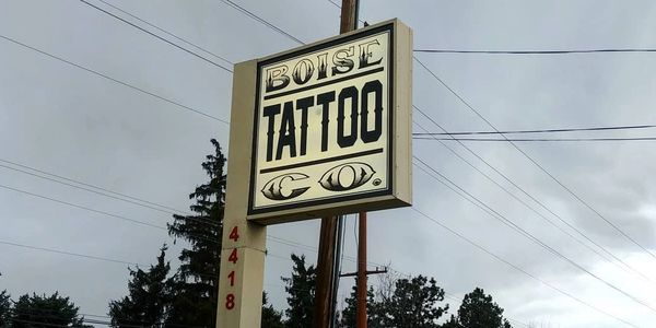 Boise Tattoo company sign