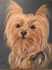 Custom Dog Portrait for Charity hand painted from your photo. Proceeds supports animal rescue.