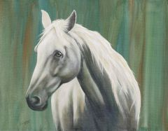 Custom Horse Portrait for Charity hand painted from your photo. Proceeds supports animal rescue.