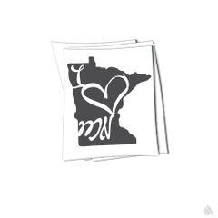 Minnesota i heart MN sticker