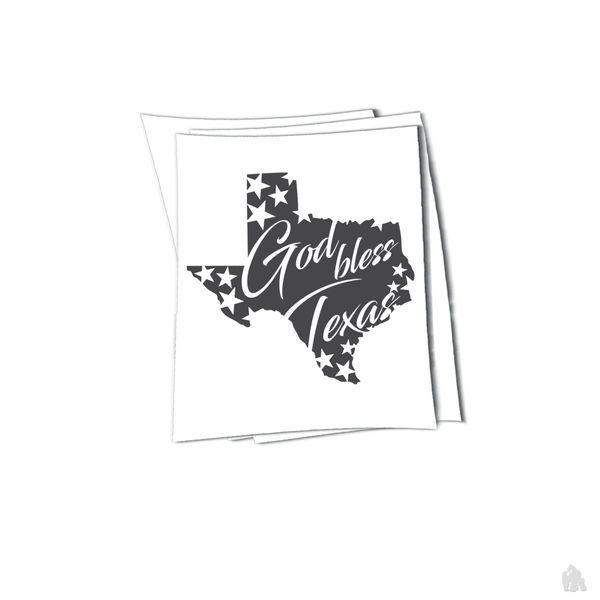 Texas god bless sticker