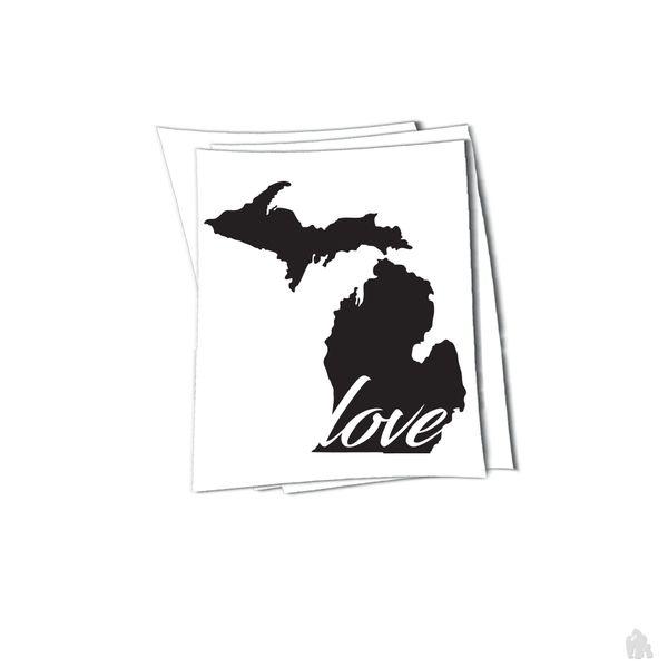 Michigan love sticker